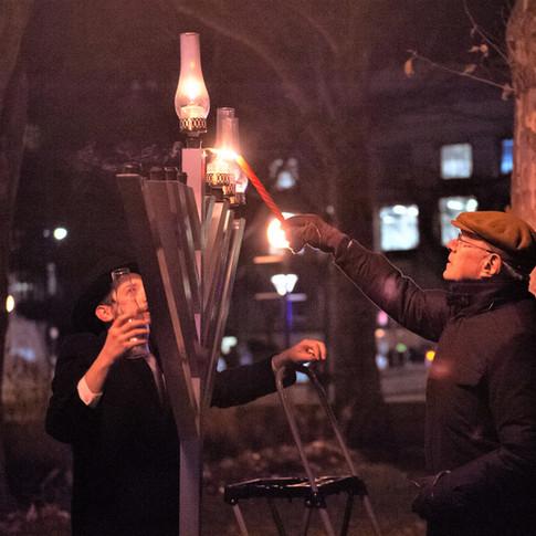Grand Menorah Lighting with President Reif 2018