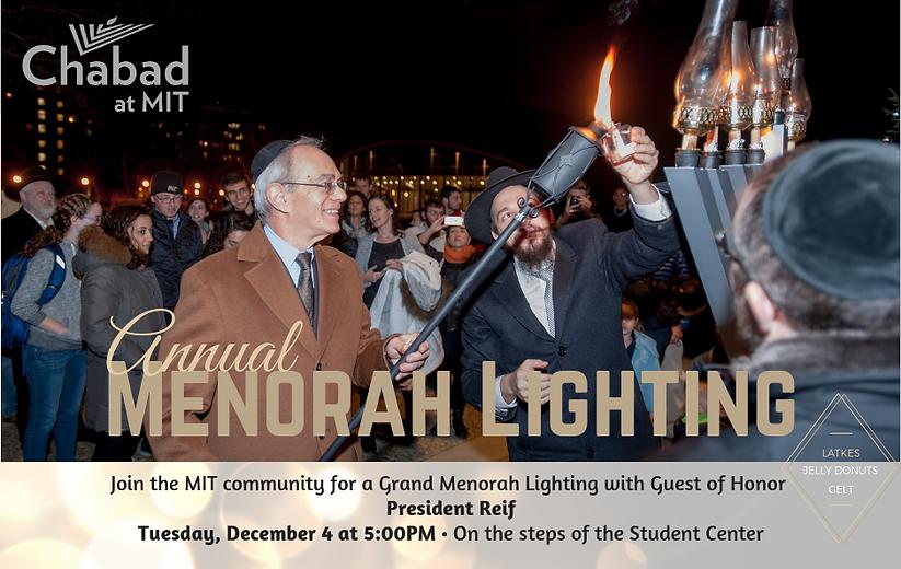 Website Menorah lighting with President