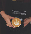 Lisa's _floating hand_ Cappuccino_._._._