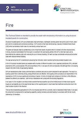 SIPs Technical Bulletin 2 - Fire