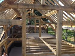 Oak frame clad in SIP Panels