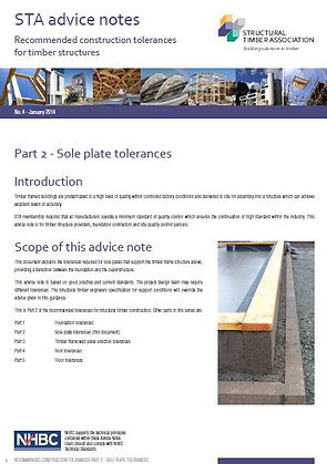 STA Advice notes - Sole plate tolerances