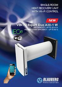 Eco SIPs Homes/MVHR/Blauberg Vento Expert Duo