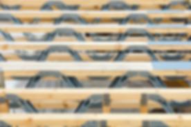 Eco SIPs Homes/Posi joist, metal web floor joists