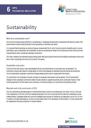 SIPs Techniical Bulletin 6 - Sustainability