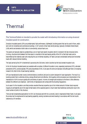 SIPs Technical Bulletin 4 - Thermal