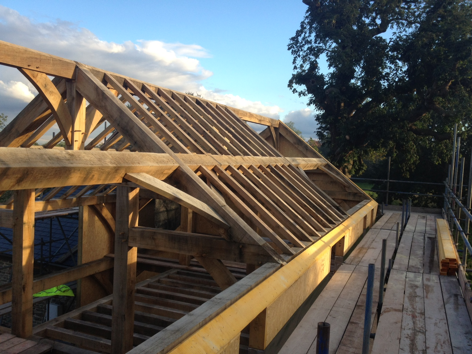 Oak frame clad in SIP Panels