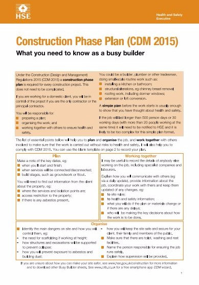 CDM 2015 What you need to know as a builder