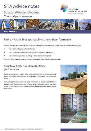 STA Advice Notes - fabric first aproach to thermal performance