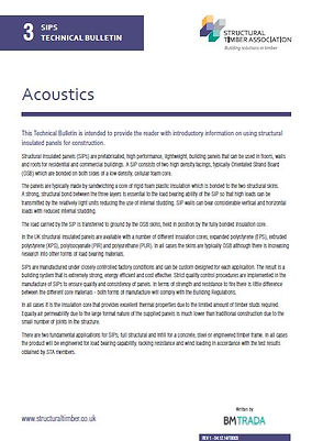 SIPs Technical Bulletin 3 - Acoustics