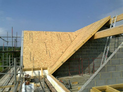 SIPs Roof on ICF walls