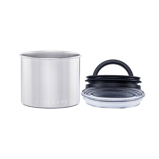Airscape® Small stainless steel coffee storage canister and 1 bag of GPC Coffe