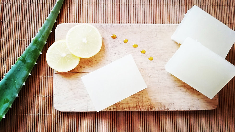 Homemade Avocado soap with Aloe Vera and Lemon