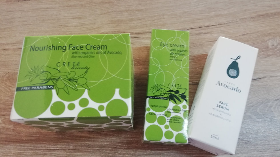 3 items kit for Face Care (nourishing cream for mix normal skin)