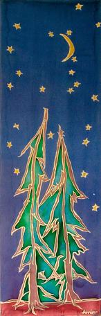 Dancing Redwoods – Silk Painting