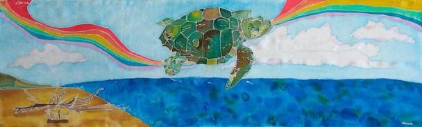 Jolly Turtle – Silk Painting