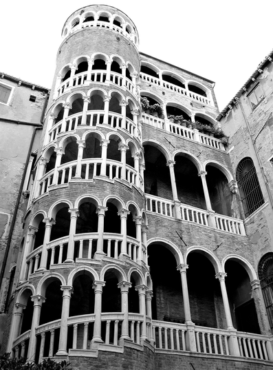 Snail Stairs, Venice –Photograph