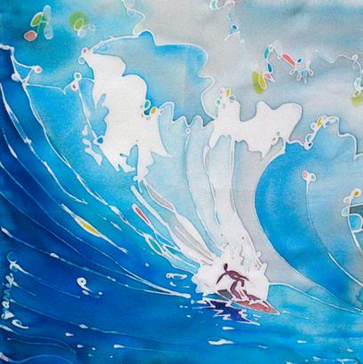 Surfer –Silk Painting