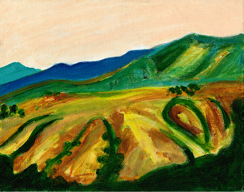 South of Big Sur – Acrylic Painting