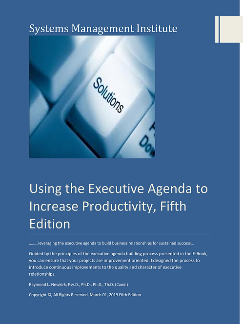 Using the Executive Agenda to Increase Productivity, Fifth Edition