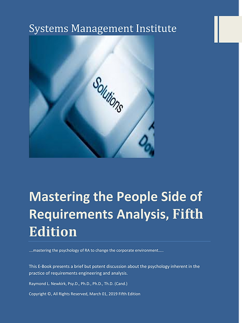 Mastering the People Side of Requirements Analysis,Fifth Edition