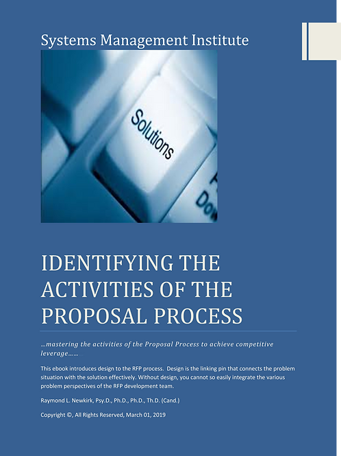 Identifying the Activities of the Proposal Process
