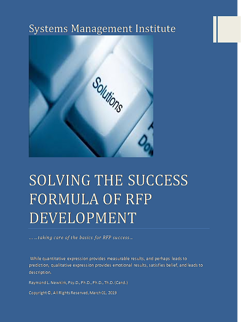 Solving the Success Formula of RFP Development