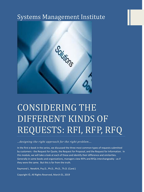 Consider the Different Types of Requests: RFI, RFP, RFQ