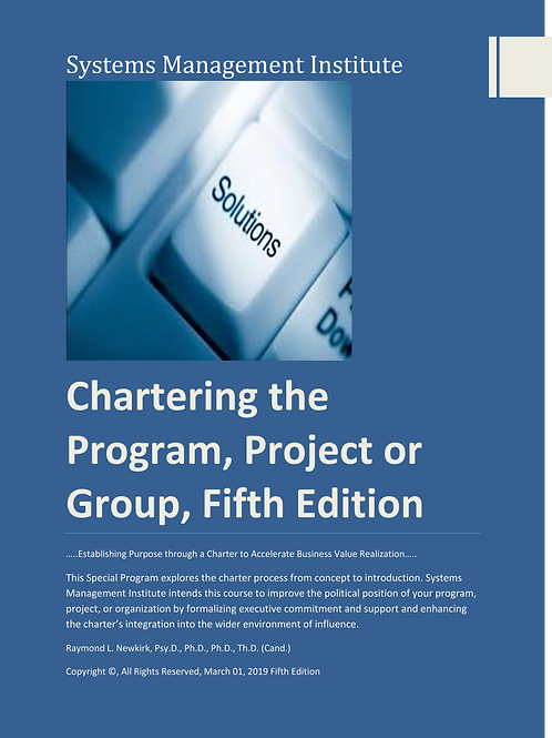 Chartering the Program, Project or Group, Fifth Edition