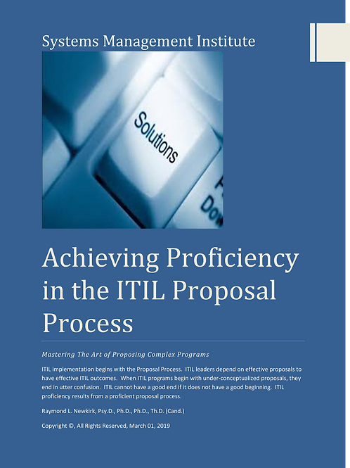 Attaining Personal Proficiency in the ITIL Proposal Process
