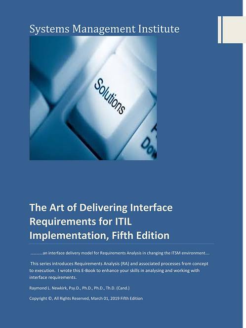 The  Art of Delivering Interface Requirements for ITIL Implementation