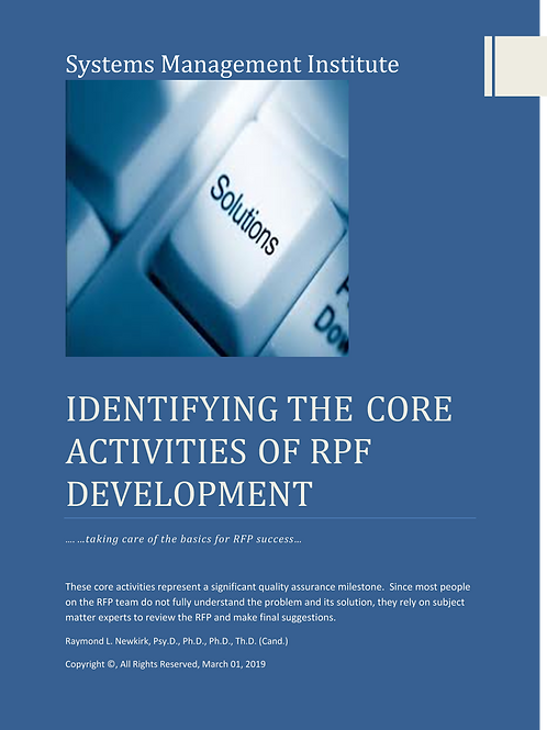 Identifying the Core Activities of RFP Development