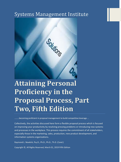Attaining Person Proficiency in the Proposal Process Part Two, Fifth Edition