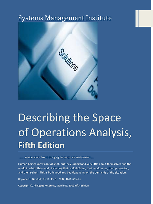 Describing the Space of Operations Analysis, Fifth Edition
