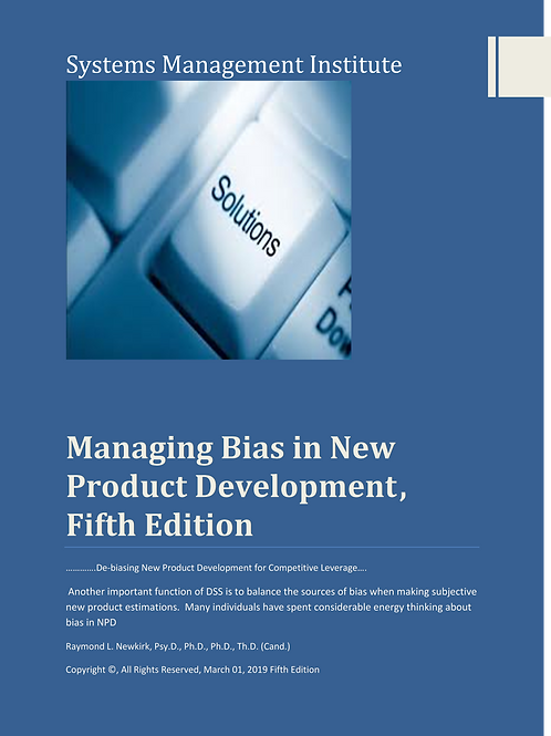 Managing Bias in New Product Development Fifth Edition