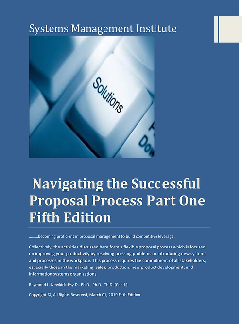 Navigating the Successful Proposal Process Part One