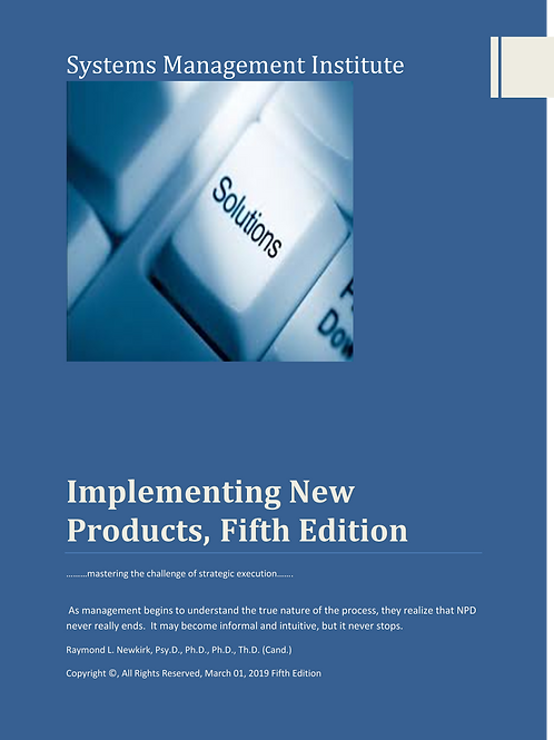 Implementing New Products, Fifth Edition