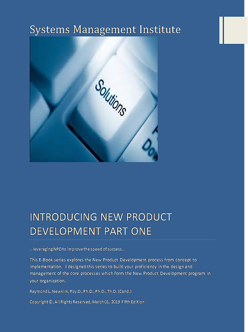 Introducing New Product Development Part One