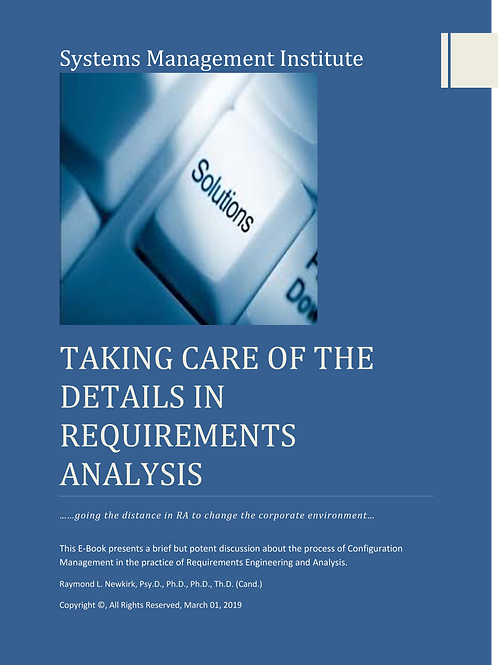 Taking Care of the Details in Requirements Analysis