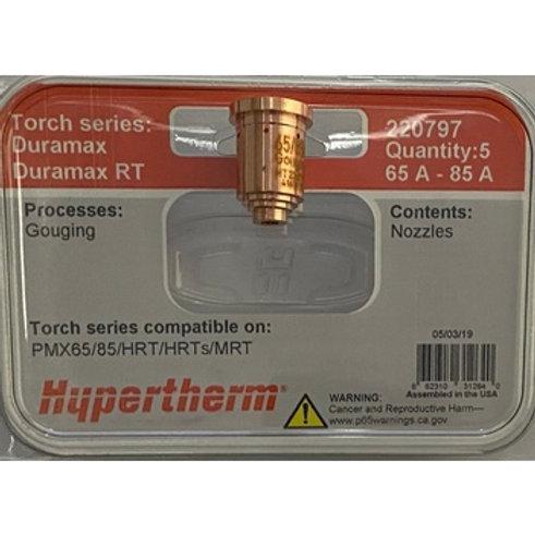 Nozzle 65-85A gouging 5-pack part#220797