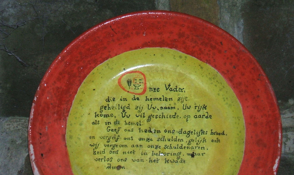 Plate with the Lord's Prayer in Dutch