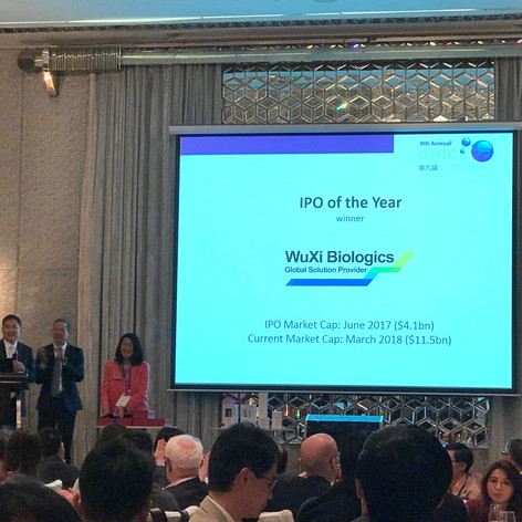 WuXi Biologics IPO of the Year