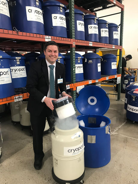 Brad Loncar visiting Cryoport