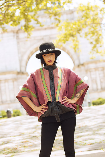 Poncho Jacket Rosadito Potosi