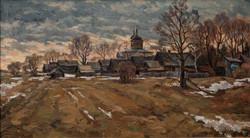 Старая деревня-41х73карт.м.2003г