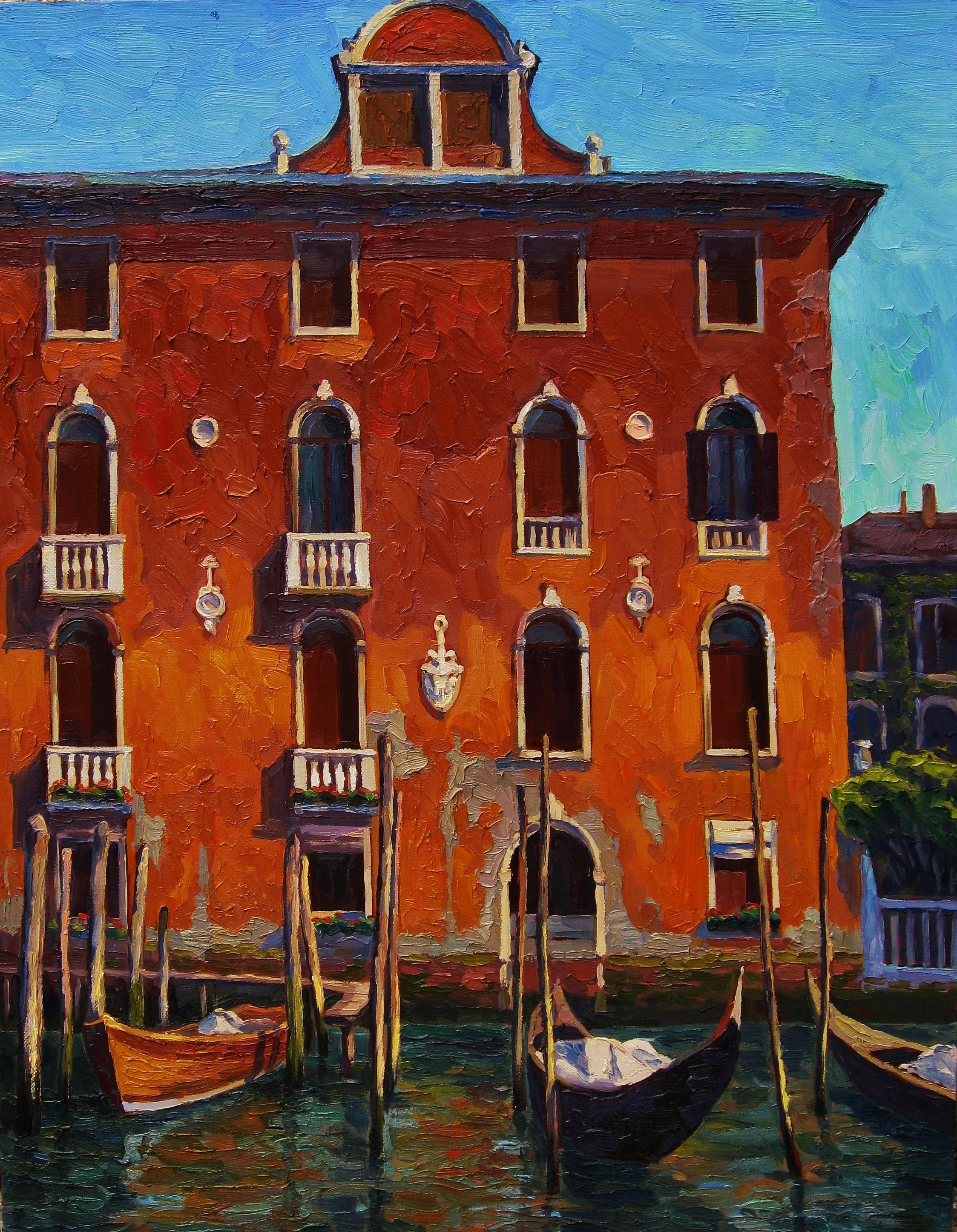 29. Старый дом в Венеции 70х90см-х.м