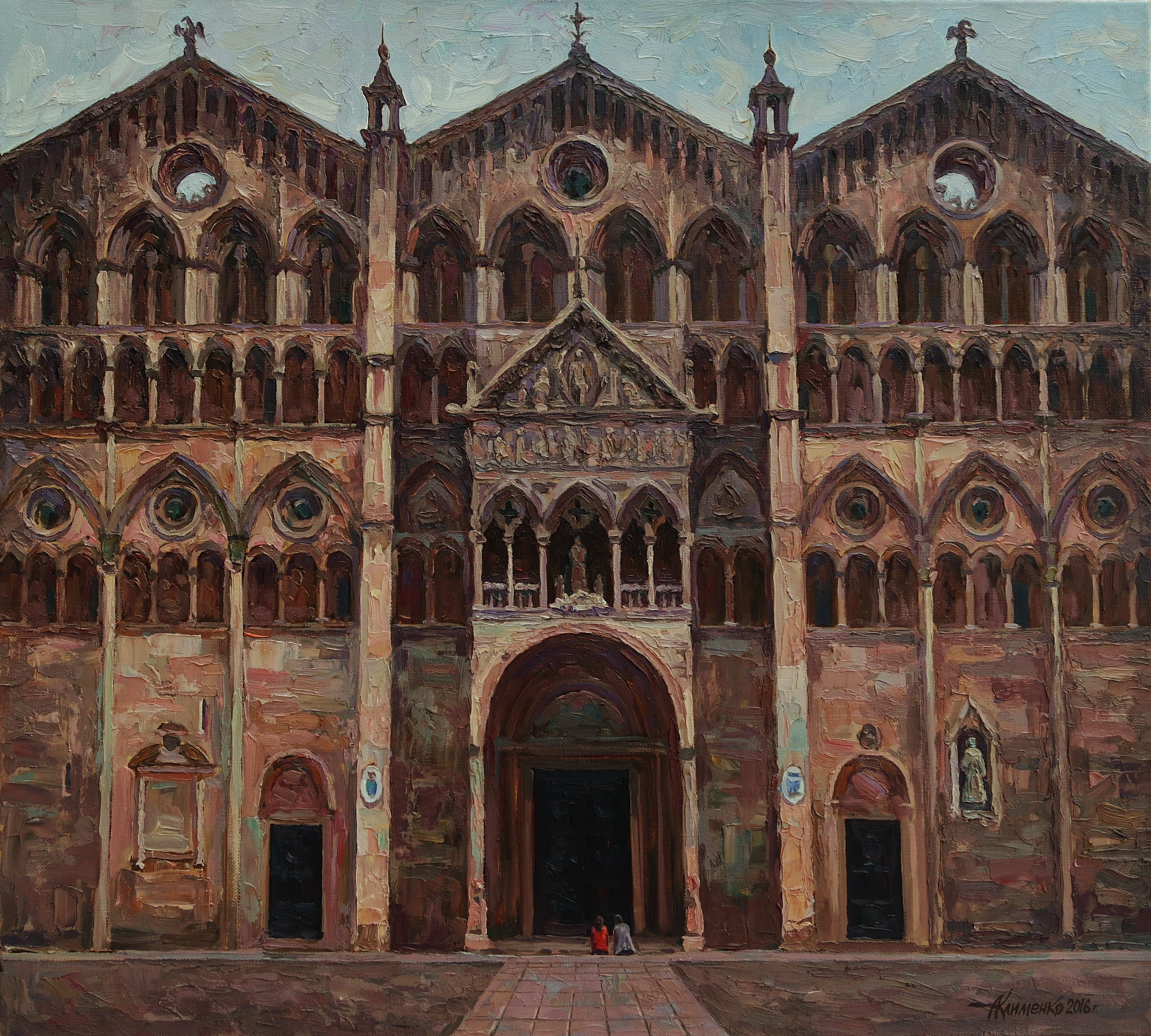 У входа.Кафедральный собор в Фераре