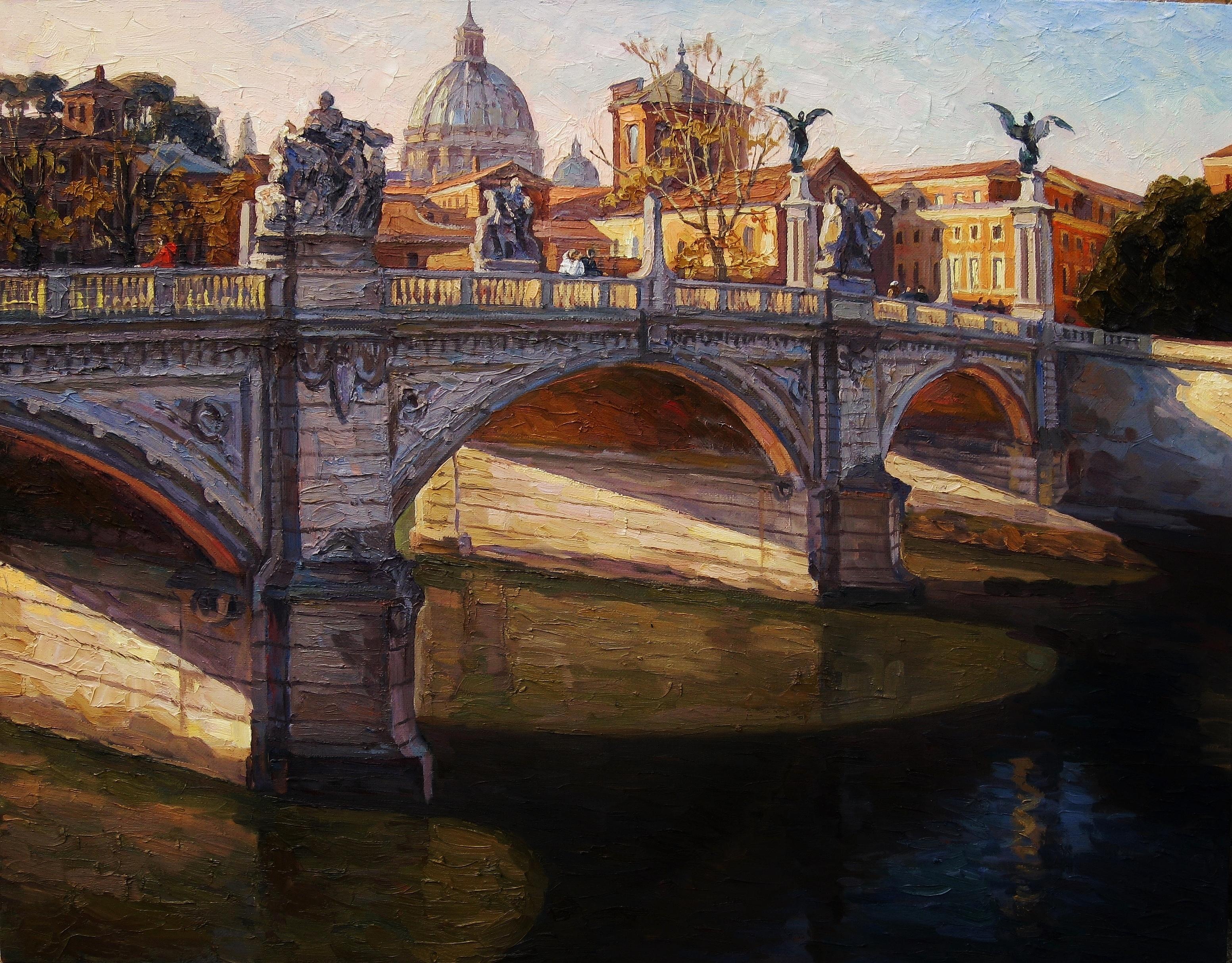 30. Римский мост-70х90см-х.м2012г.