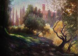 Солнечный день в Греве. Тоскана