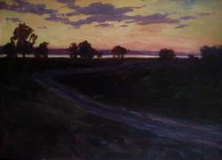 118.Вечерняя дорога к реке 50х70 к